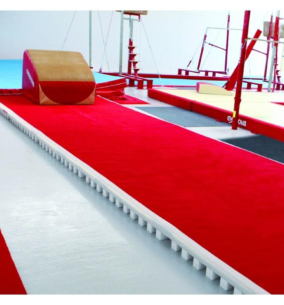ACROBATIC TRACK - FLOOR WITH ROLL-UP TRACK - 14 x 2 m (*)