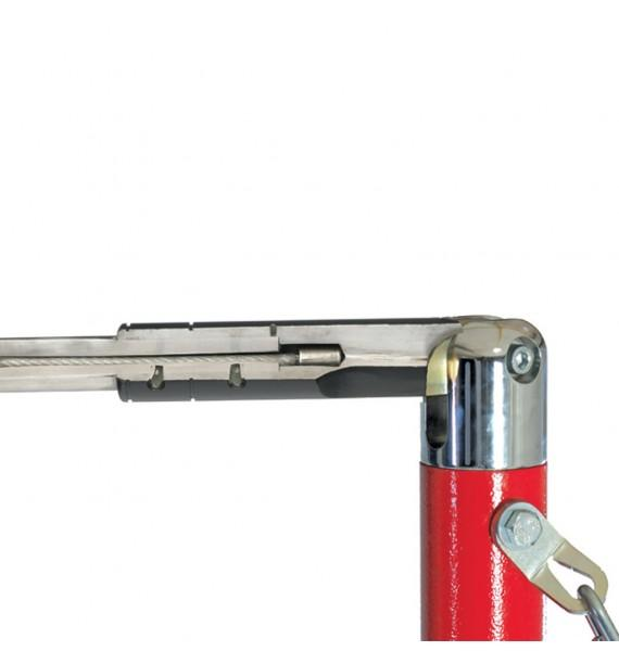 HAND-RAIL WITH SAFETY CABLE FOR HIGH BARS