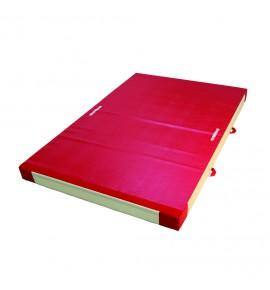 SAFETY MAT FOR APPARATUS LANDING - DUAL DENSITY - PVC COVER - WITH ATTACHMENT STRIPS - 300 x 200 x 20 cm