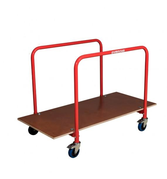 TRANSPORT TROLLEY FOR EXERCISE FLOOR