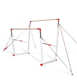 RIO COMPETITION ASYMMETRIC BARS - STANDARD CABLE - DYNAMIC WOODEN HAND-RAIL - FIG Approved