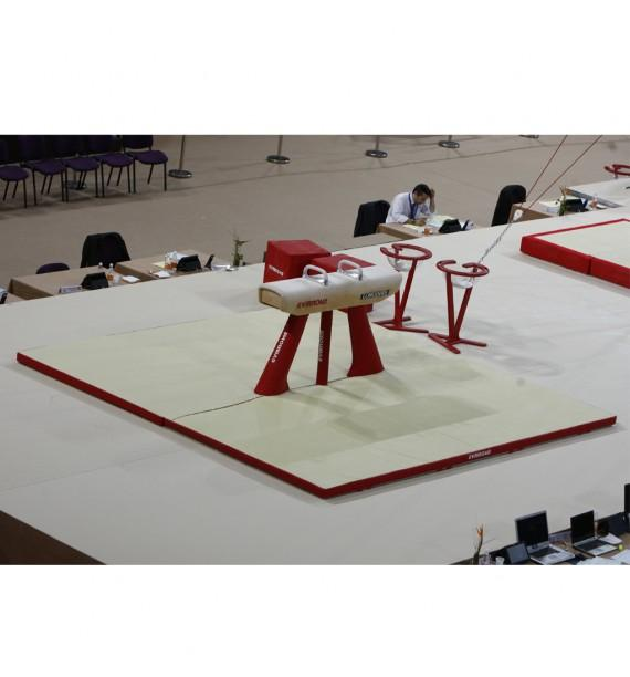 SET OF LANDING MATS FOR COMPETITION POMMEL HORSE - 16 m² - FIG Approved