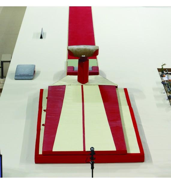 SET OF LANDING MATS FOR COMPETITION VAULTING - WITH TOP MAT - 15.60 m² - FIG Approved