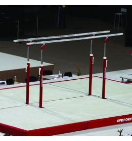 SET OF LANDING MATS FOR COMPETITION PARALLEL BARS - 41 m² - FIG Approved
