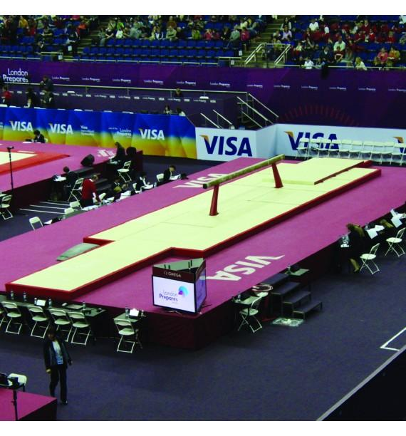 SET OF LANDING MATS FOR COMPETITION BEAM - WITH TOP MAT - 52 m² - FIG Approved