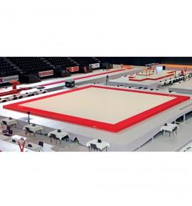 MONTREAL TRAINING SPRING EXERCISE FLOOR WITH OVERLAY CARPET (SPRINGS NOT ASSEMBLED) - SPECIFIC DIMENSIONS (*)