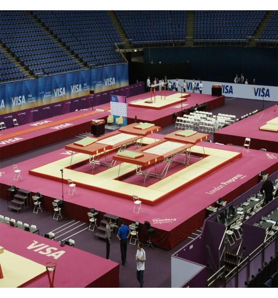 """Set of FIG mats """"London"""" for safety area for 2 trampolines"""