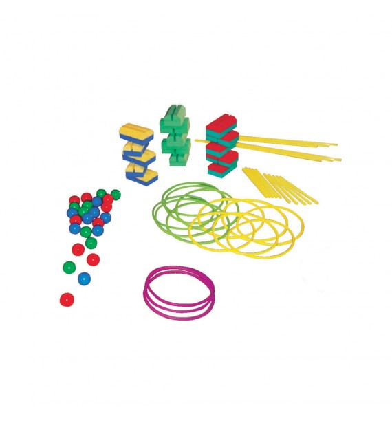 ACTIPLOT KIT - Set of 15 actiplots, 12 hoops, 20 sticks 70 cm, 6 sticks 1.20m, 50 balls