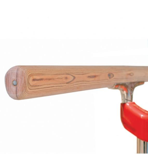 REINFORCED HAND-RAIL WITH PVC SUPPORT FOR PARALLEL BARS
