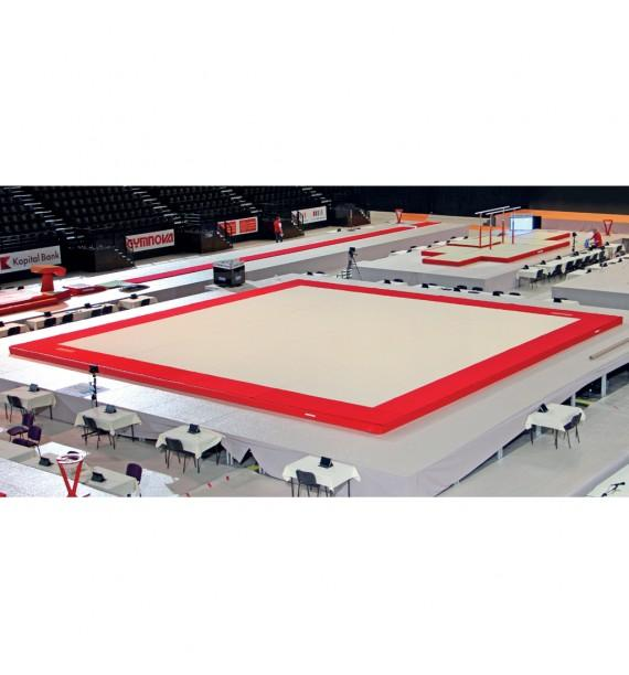 MONTREAL COMPETITION SPRING EXERCISE FLOOR WITH OVERLAY CARPET (SPRINGS ASSEMBLED) - 14 x 14 m - FIG Approved