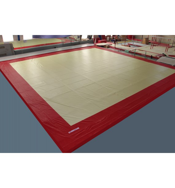Two-coloured PROTECTIVE PVC COVER FOR EXERCISE FLOOR - 14 x 14 m