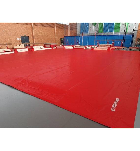 EXERCISE FLOOR UNICOLOURED OVERLAY TARPAULIN IN SMOOTH PVC WITH BOUNDARY TAPE - 13 x 13 m (OCCASION)