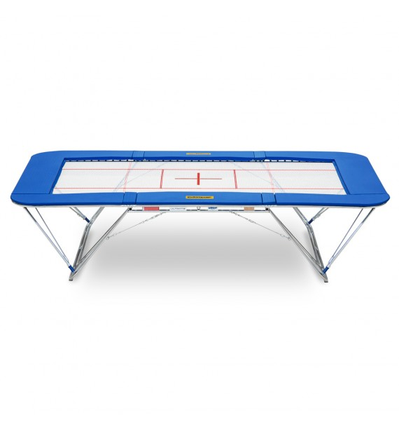 ULTIMATE COMPETITION TRAMPOLINE ONLY - 4 x 4 mm BED - PADDING 32 mm - ROLLER STANDS