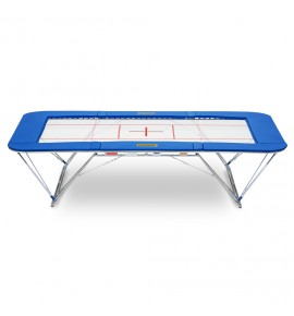 ULTIMATE COMPETITION TRAMPOLINE ONLY - 4 x 4 mm BED - PADDING 50 mm - ROLLER STANDS