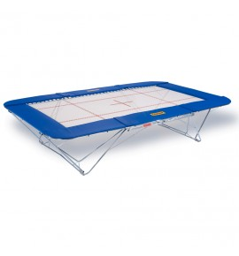 TRAMPOLINE GRAND MASTER - TOILE 13 x 13 mm - CHARIOTS ELEVATEURS A ROULETTES