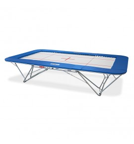 GRAND MASTER TRAMPOLINE - SYNTHETIC BED - LIFTING ROLLER STANDS
