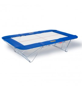 TRAMPOLINE MASTER - TOILE 13 x 13 mm - CHARIOTS ELEVATEURS A ROULETTES