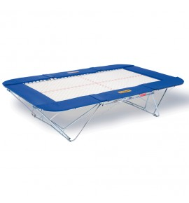 TRAMPOLINE MASTER - TOILE 45 x 45 mm - CHARIOTS ELEVATEURS A ROULETTES