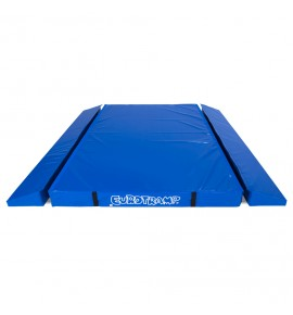 LARGE TRAMPOLINES SAFETY MATS WITH DOUBLE WEDGE – DIMENSIONS: 300 x 280 cm – THE UNIT