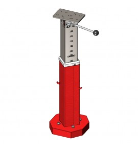 PEDESTAL BASE ONLY FOR PIT-EDGE VAULTING TABLE