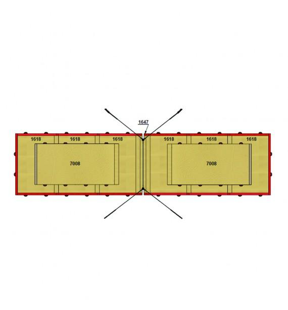 SET OF LANDING MATS FOR COMPETITION HIGH BAR - WITH TOP MATS - 37.50 m² - FIG Approved